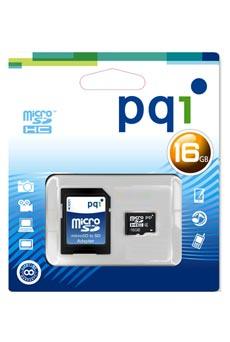 PQI Micro SD CL4 16GB + ADAP
