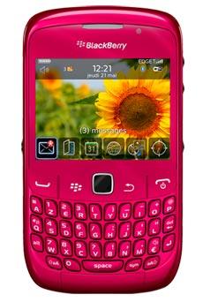 mobiles telephone BlackBerry Curve  Rose do