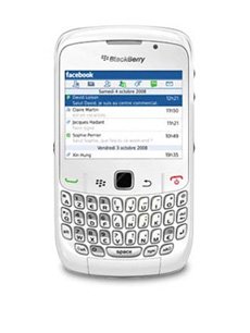 BlackBerry Curve 8520 Blanc Occasion