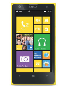 nokia lumia 1020 reconditionn jaune pas cher prix. Black Bedroom Furniture Sets. Home Design Ideas