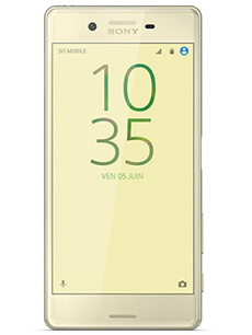 sony xperia x occasion or lime pas cher prix caract ristiques avis. Black Bedroom Furniture Sets. Home Design Ideas