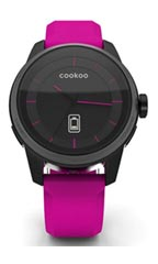 Montre Cookoo Watch Noir et Rose