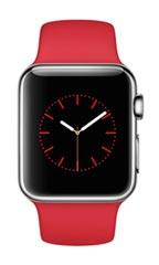 Montre Apple Watch Acier 38mm Bracelet Sport Rouge