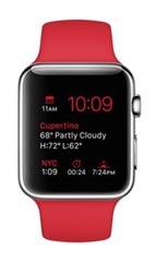 Montre Apple Watch Acier 42mm Bracelet Sport Rouge
