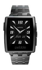 Montre Pebble Steel Argent