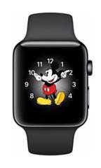 Montre Apple Watch 2 Acier Inox 38mm Bracelet Sport Noir