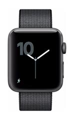Montre Apple Watch 2 Aluminium Gris Sidéral 42mm Bracelet Nylon Tissé  Noir