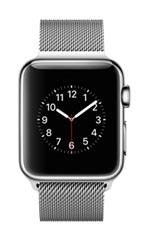 Montre Apple Watch 2 Acier Inox 38 mm Bracelet Milanais Gris