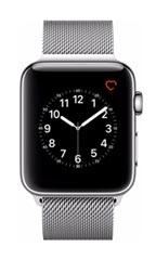 Montre Apple Watch 2 Acier Inox 42 mm Bracelet Milanais Gris