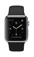 Montre Apple Watch Acier 38mm Bracelet Sport Noir