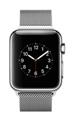 Montre Apple Watch 2 Acier Inox 38 mm Bracelet Milanais Gris