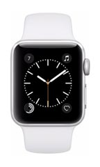 Montre Apple Watch 2 Alu Argent 38mm Bracelet Sport Blanc