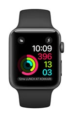 Montre Apple Watch 2 Alu Gris Sidéral 38mm Bracelet Sport Noir