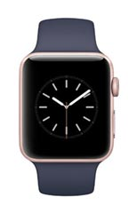 Montre Apple Watch 2 Alu Or Rose 42mm Bracelet Sport Bleu nuit