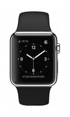 Montre Apple Watch Acier 38mm Bracelet Sport Noir