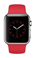 Montre Apple Watch Acier 38mm Bracelet Sport Rouge