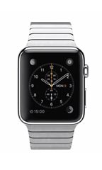Montre Apple Watch Acier 42mm Bracelet à Maillons Gris
