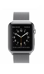 Montre Apple Watch Acier 42mm Bracelet Milanais Gris