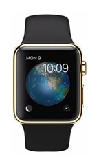 Montre Apple Watch Edition Or Jaune 38mm Bracelet Sport Noir
