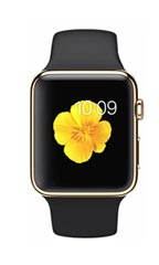 Montre Apple Watch Edition Or Jaune 42mm Bracelet Sport Noir