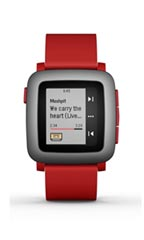 Montre Pebble Time Rouge