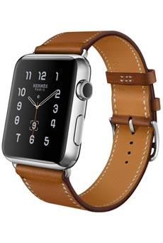 Apple Watch Hermès Simple Tour 38mm Marron pas chère   prix ... afd7dc5622c