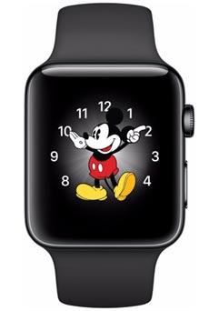 Apple Watch 2 Acier Inox 38mm Bracelet Sport Noir