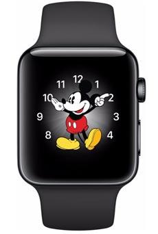 Apple Watch 2 Acier Inox 42mm Bracelet Sport Noir