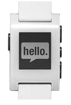 Pebble Smart Watch Blanc