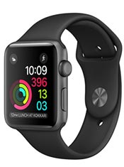 Apple Watch 2 Alu Gris Sidéral 38mm Bracelet Sport Noir