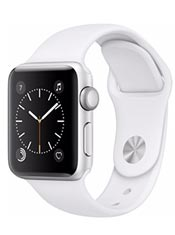 Apple Watch 2 Alu Argent 38mm Bracelet Sport Blanc