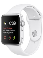 Apple Watch 2 Alu Argent 42mm Bracelet Sport Blanc