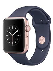 Apple Watch 2 Alu Or Rose 42mm Bracelet Sport Bleu nuit