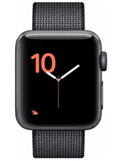 Apple Watch 2 Aluminium Gris Sidéral 38mm Bracelet Nylon Tissé Noir
