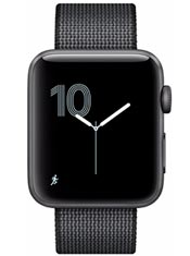 Apple Watch 2 Aluminium Gris Sidéral 42mm Bracelet Nylon Tissé Noir