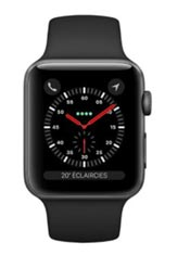Apple Watch 3 GPS Alu 42mm Bracelet Sport Noir