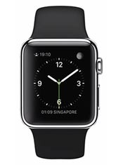 Apple Watch Acier 38mm Bracelet Sport Noir