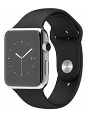 Apple Watch Acier 42mm Bracelet Sport Noir