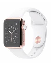 Apple Watch Edition Or Rose 38mm Bracelet Sport Blanc