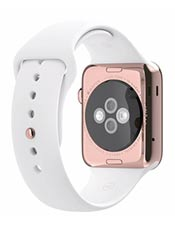 Apple Watch Edition Or Rose 42mm Bracelet Sport Blanc