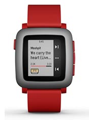 Pebble Time Rouge
