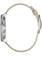 Pebble Time Round 14mm Cuir Beige