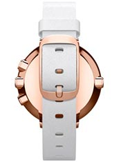 Pebble Time Round 14mm Cuir Blanc