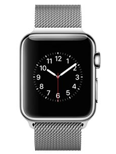 Apple Watch 2 Acier Inox 38 mm Bracelet Milanais Gris