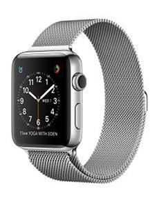 Apple Watch 2 Acier Inox 42 mm Bracelet Milanais Gris