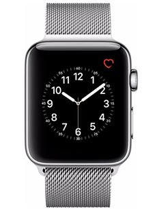 Apple Watch 2 Acier Inox 42 mm Bracelet Milanais Gris