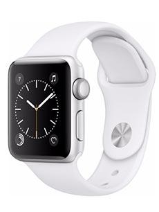 Apple Watch 2 Alu Argent 38mm Bracelet Sport Blanc