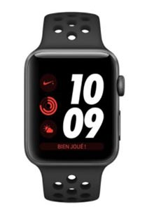 Apple Watch 3 Nike+ GPS Alu 38mm Bracelet Sport Noir