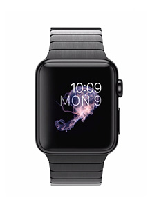 Apple Watch Acier 38mm Bracelet à Maillons Noir