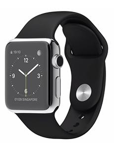 Apple Watch Acier 38mm Bracelet Sport Noir